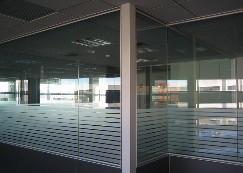 Aluminios Eibar / Offices division works: lineal system
