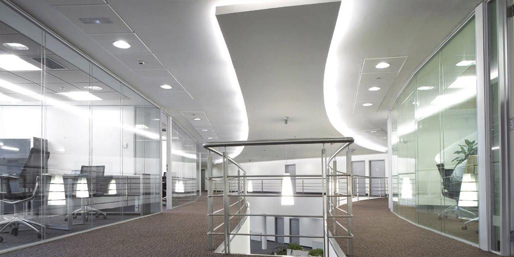 Aluminios Eibar / Obras de división de oficinas: sistema lineal