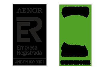 Logotipos AENOR 9001 y 14001